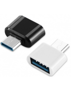 ADAPTADOR AD113 OTG USB - MICRO USB TYPE C PRETO BLISTER