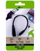 ADAPTADOR OTG MICRO USB TYPE C MACHO - USB FEMEA