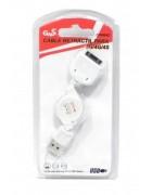 CABO RETRATIL USB IPHONE 3G, 4, 4S, IPAD 1, 2, 3 E 4 ( 70CM)