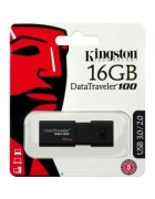 PEN DRIVE KINGSTON 16GB DATATRAVELER 100 G3 USB 3.1 PRETA ORIGINAL BLISTER