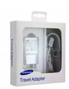 CARREGADOR SAMSUNG E CABO EP-TA10EWE BRANCO ORIGINAL BLISTER (MICRO USB)