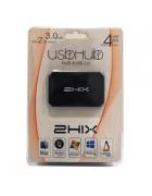 HUB USB 4*PORTAS USB 3.0 C/ALIMENTAÇÃO - 2HIX - PRETO