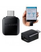 ADAPTADOR SAMSUNG OTG MICRO USB TIPO C PRETO ORIGINAL BULK