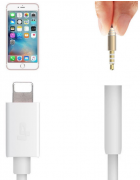 ADAPTADOR COMPATIVEL APPLE LIGTNING PARA JACK 3.5 BRANCO (AD085)