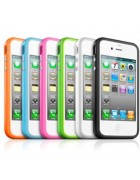 BUMPER SILICONE (TPU) IPHONE 4G,4S PRETO