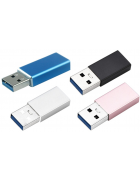 ADAPTADOR AD099 MICRO USB TYPE C - USB MACHO AZUL BLISTER