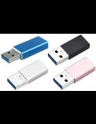 ADAPTADOR AD099 MICRO USB TYPE C - USB MACHO DOURADO BLISTER