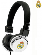 AURICULAR/HEADPHONE REAL MADRID PRETO/BRANCO ORIGINAL BLISTER