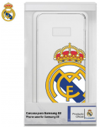 BOLSA SILICONE JELLY REAL MADRID SAMSUNG GALAXY S8 BRANCA/TRANSPARENTE ORIGINAL BLISTER