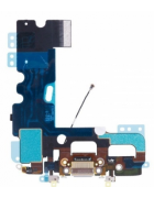 FLEX COM CONECTOR CARGA E MICROFONE APPLE IPHONE 7 PLUS BRANCO ORIGINAL
