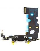 FLEX COM CONECTOR CARGA LIGHTNING E MICROFONE APPLE IPHONE 8 PRETO ORIGINAL