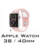 BRACELETE SILICONE APPLE WATCH 38MM/40MM (MODELO 1)