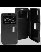 CAPA FLIP COVER P-VIEW IPHONE 5G, 5S, SE PRETA