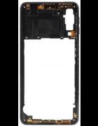 CAPA INTERMÉDIA / CHASSI SAMSUNG GALAXY A7 (2018), A750F PRETA ORIGINAL