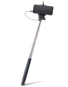 MONOPOD SELFIE STICK FOREVER MP-400 C/ CABO AUDIO PRETO BLISTER
