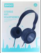 AURICULAR/HEADPHONE BWOO COM MICROFONE BX-007 CINZENTO ORIGINAL BLISTER