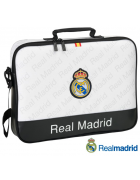"MALA PORTATIL REAL MADRID C.F. PRETA/BRANCA 15""-16"" ORIGINAL (SLIM)"