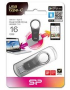 PEN DRIVE 16GB SILICON POWER METAL CINZENTA BLISTER (TYPE C+ USB 3.0)