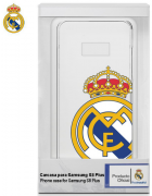 BOLSA SILICONE JELLY REAL MADRID SAMSUNG GALAXY S8 PLUS BRANCA/TRANSPARENTE ORIGINAL BLISTER