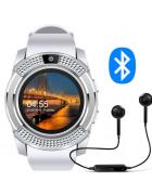 Relógio Inteligente Smartwatch V8 Sport Android/iOS branco