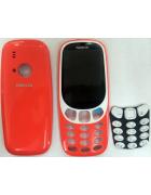 CAPA NOKIA 3310 (FRONTAL + TRASEIRA + TECLADO) VERMELHA ORIGINAL